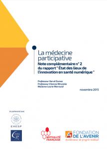 cliquez ici pour consulter la note complémentaire dédiée à la médecine participative